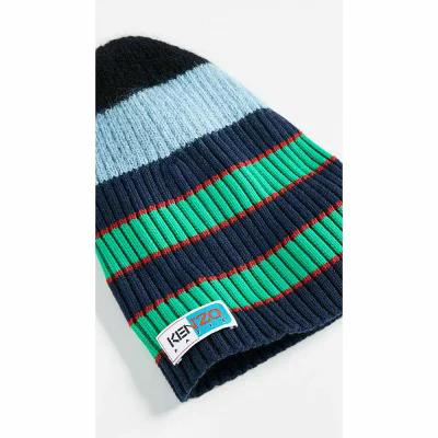 ケンゾー KENZO ニット Stripy Cable Wool Beanie Sky Blue