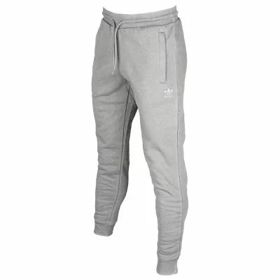 アディダス adidas Originals スキニー・スリム Trefoil Slim Fleece Pants Medium Grey Heather