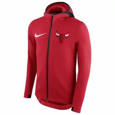 ナイキ Nike パーカー NBA Player Showtime Therma Full-Zip Hoodie NBA Chicago Bulls University Red
