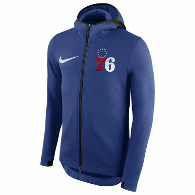 ナイキ Nike パーカー NBA Player Showtime Therma Full-Zip Hoodie NBA Philadelphia 76ers Blue
