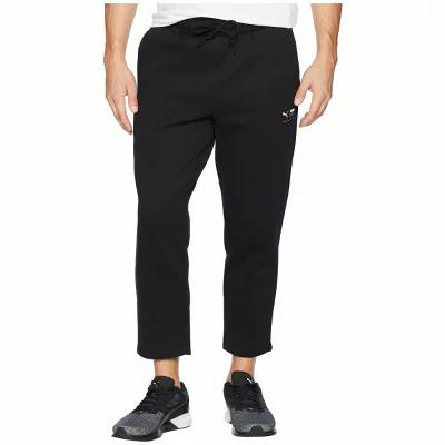 プーマ PUMA スウェット・ジャージ Downtown Cropped Sweatpants Black