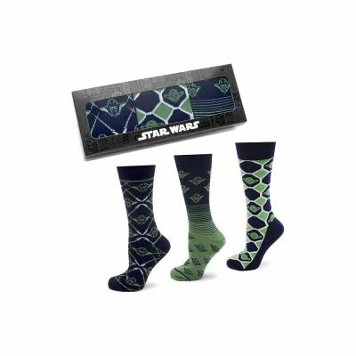 カフリンクス CUFFLINKS, INC. ソックス Wise Yoda 3-Pack Socks Green