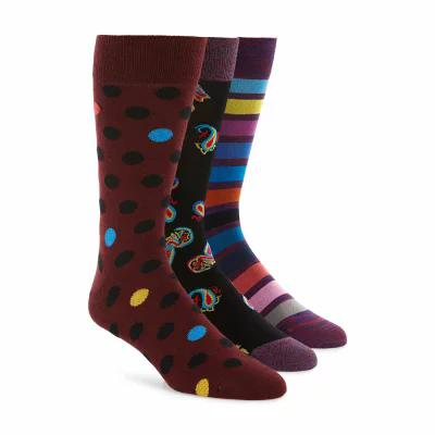 ブガッチ BUGATCHI ソックス 3-Pack Sock Box Set Bordeaux