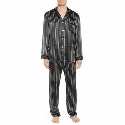マジェスティック MAJESTIC INTERNATIONAL パジャマ・上下セット Fresh Ink Stripe Silk Pajama Set Fog