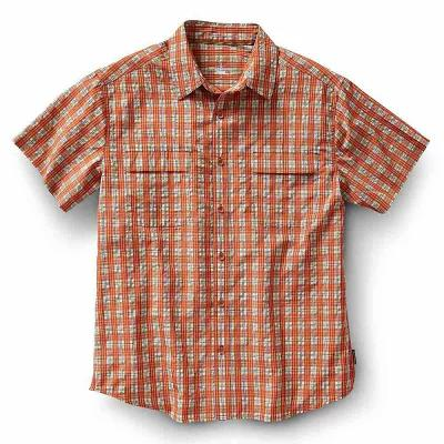 ロイヤルロビンズ 半袖シャツ Royal Robbins Diablo Plaid SS Shirt Salsa