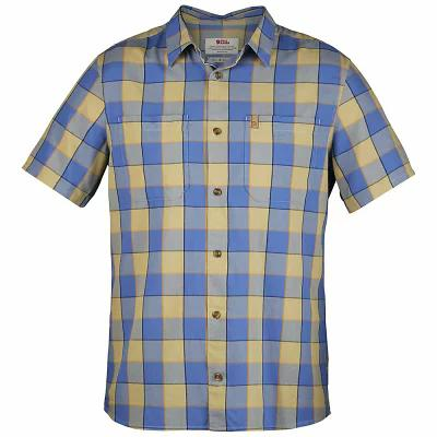 フェールラーベン 半袖シャツ High Coast Big Check SS Shirt UN Blue