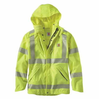 カーハート レインコート High-Visibility Class 3 Waterproof Jacket Brite Lime