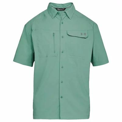 アンダーアーマー 半袖シャツ UA Fish Hunter SS Solid Shirt Aegean Green / Graphite