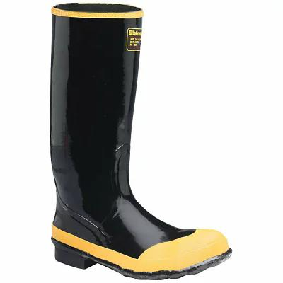 ラクロッセ レインシューズ・長靴 Lacrosse Economy 16IN Steel Toe Knee Boot Black