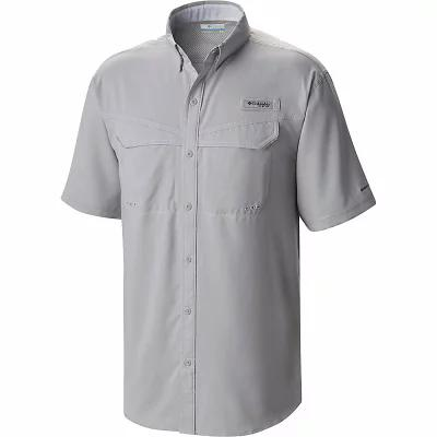 コロンビア 半袖シャツ Columbia Low Drag Offshore SS Shirt Cool Grey / White