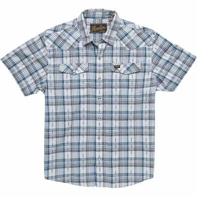 ホウラーブラザーズ 半袖シャツ Howler Bros H Bar B Snapshirt Brooks Plaid Space Blue