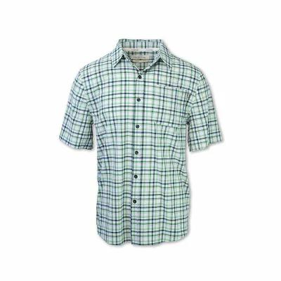 パーネル 半袖シャツ 4-Way Stretch Quick Dry Plaid Shirt Green Checkered Plaid