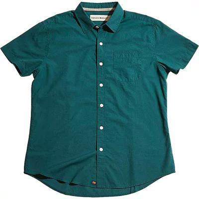 ノーブランド 半袖シャツ Yarn Dye Short Sleeve Woven Atlantic