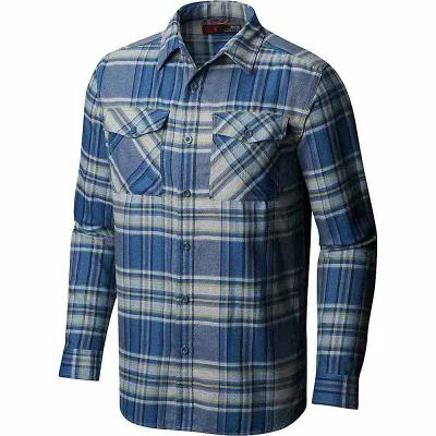 マウンテンハードウェア Mountain Hardwear シャツ Trekkin Flannel LS Shirt Machine Blue