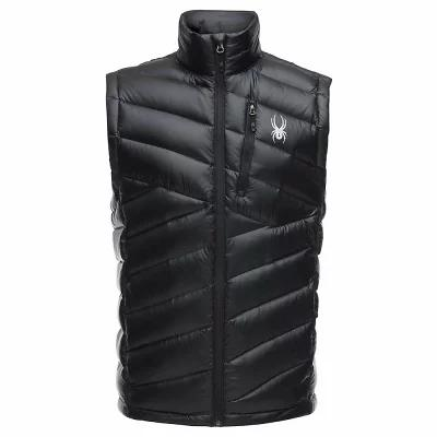 スパイダー Spyder ベスト・ジレ Syrround Down Vest Black / Black