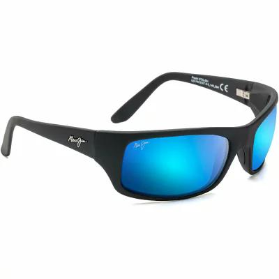 マウイジム Maui Jim スポーツサングラス Peahi Polarized Sunglasses - Black MATTE BLACK