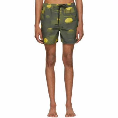 スビ Ksubi 海パン Green & Yellow Vitality Board Shorts