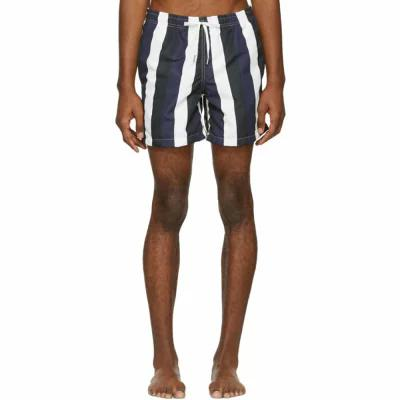 ベェイザァ Bather 海パン Navy & Black Striped Swim Shorts
