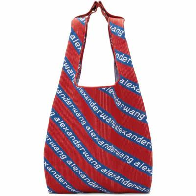 アレキサンダー ワン Alexander Wang トートバッグ Red & Blue Knit Jacquard Shopper Tote