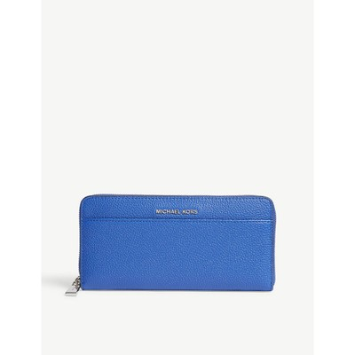 マイケル コース 財布 mercer leather purse Elctric blue