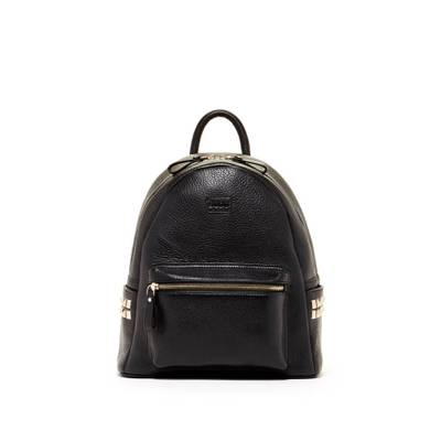 スス バックパック・リュック Diana Genuine Leather Black Backpack With Studs Black