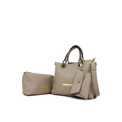 カルロ リノ ハンドバッグ Carlo Rino 0302999-001-36 Top-handle bag (Beige) beige