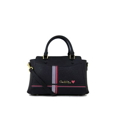 カルロ リノ ハンドバッグ Carlo Rino 0303826-003-08 Top-handle bag (Black) black
