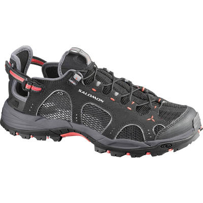 サロモン Salomon ウォーターシューズ Techamphibian 3 Shoe Black/Dark Cloud/Papaya