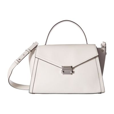 マイケル コース ハンドバッグ Whitney Large Top-Handle Satchel Optic White