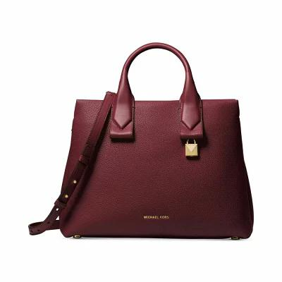 マイケル コース Michael Kors ハンドバッグ Rollins Medium Satchel Oxblood/Gold