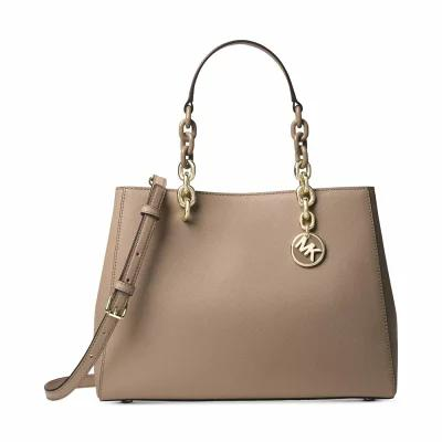 マイケル コース Michael Kors ハンドバッグ Cynthia Medium Satchel Truffle/Gold