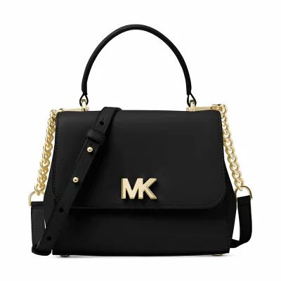 マイケル コース Michael Kors ハンドバッグ Mott Small Top-Handle Satchel Black/Gold