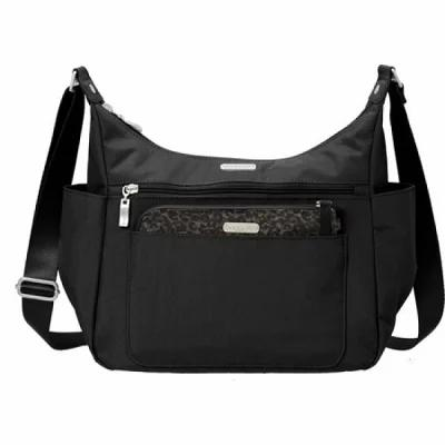 バッガリーニ ハンドバッグ Peek A Boo Large Hobo Black/Charcoal Cheetah