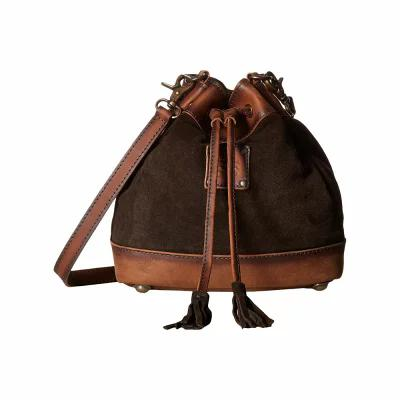 STSランチウェア STS Ranchwear ハンドバッグ Heritage Bucket Bag Chocolate Suede/Tornado Brown