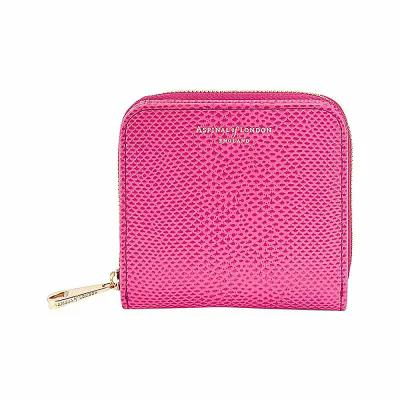 アスピナル オブ ロンドン aspinal of london 財布 mini continental reptile-effect leather coin purse Pink