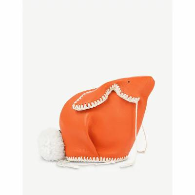 ロエベ loewe その他バッグ bunny macrame mini leather bag Orange/white