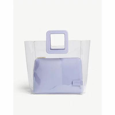 スタッド staud トートバッグ mini shirley transparent tote Lavender