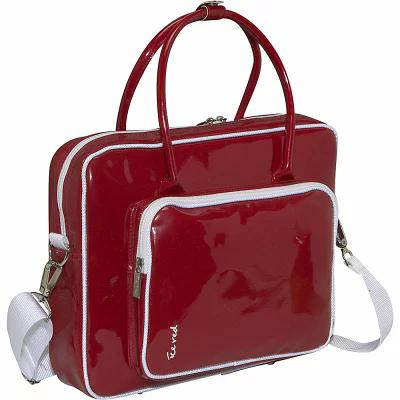 アイスレッド Ice Red パソコンバッグ Shine 2 Compact Glossy Laptop Tote Red