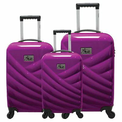シャリオ Chariot スーツケース・キャリーバッグ Veneto 3 Piece Hardside Spinner Luggage Set Violet