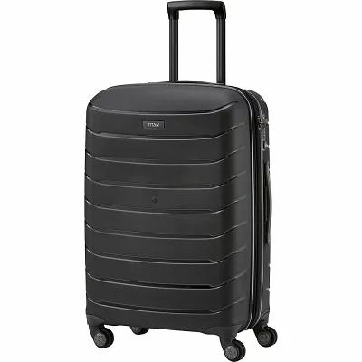 タイタン Titan Bags スーツケース・キャリーバッグ Limit Unbreakable 27' Expandable Hardside Checked Spinner Luggage Black