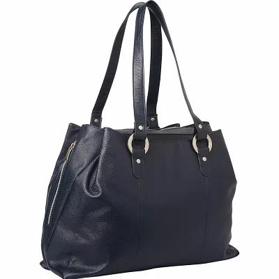 ピエール Piel トートバッグ Three Compartment Leather Tote Navy