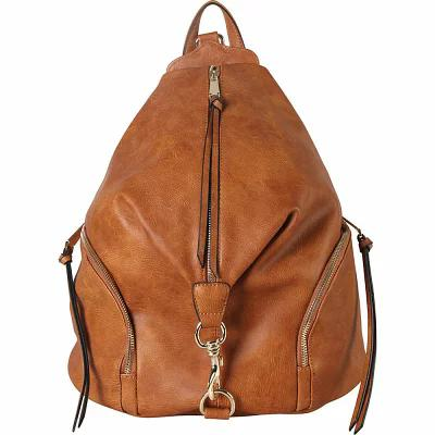 ディオフィ Diophy バックパック・リュック Duel Side Zipper Pocket Fashion Backpack Cognac