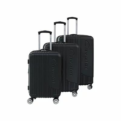 キャバレー Cavalet スーツケース・キャリーバッグ Malibu 3 Piece Hardside Spinner Luggage Set Black