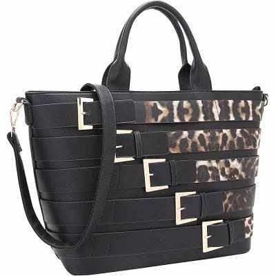 75d678e05ffa ダーザイン Dasein トートバッグ Medium Tote with Buckle Details Leopard