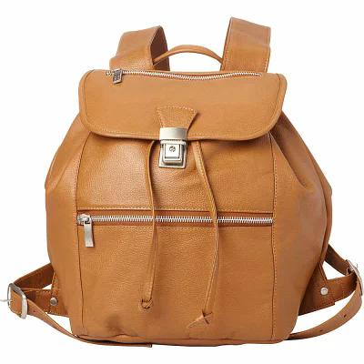 ピエール Piel バックパック・リュック Double Compartment Leather Backpack Saddle