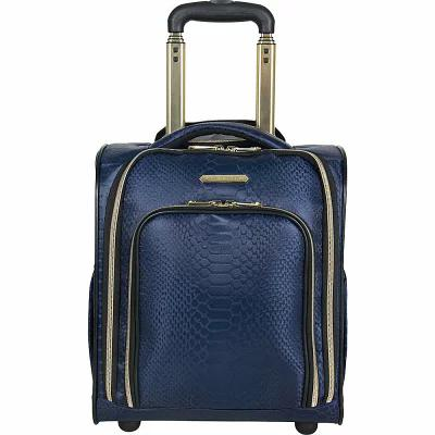 エイミー ケステンバーグ Aimee Kestenberg スーツケース・キャリーバッグ Parker 16' 2 Wheeled Underseater Carry-On Luggage Navy Jacquard With Gold Hardware
