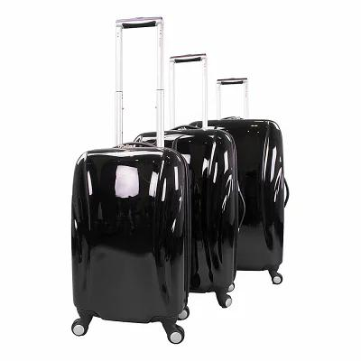 シャリオ Chariot スーツケース・キャリーバッグ Belluno 3 Piece Hardside Spinner Luggage Set Black