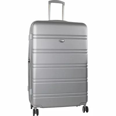 アメリカングリーントラベル American Green Travel スーツケース・キャリーバッグ Plateau 26' Expandable Hardside Checked Spinner Luggage Silver