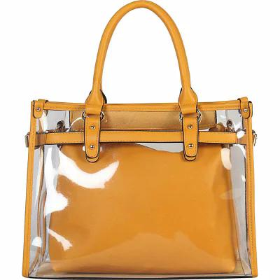 ディオフィ Diophy トートバッグ Large Fashion Clear Tote Yellow