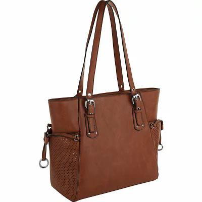 MKFコレクション MKF Collection by Mia K. Farrow トートバッグ Sloane Work-Friendly Tote Cognac Brown